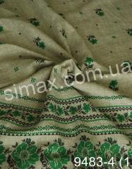 Скатертная ткань Рогожка, набивная, Код: 9483-4