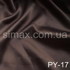 Ткань атлас стрейч, Код: PY-17 Шоколад