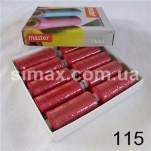 Швейная нитка 40s/2 (10шт x 400 ярдов), нитка 777 цветные, Код: 115
