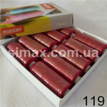 Швейная нитка 40s/2 (10шт x 400 ярдов), нитка 777 цветные, Код: 119