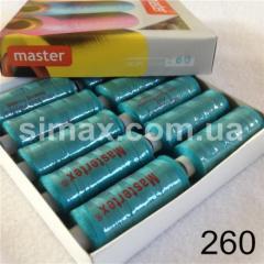 Швейная нитка 40s/2 (10шт x 400 ярдов), нитка 777 цветные, Код: 260