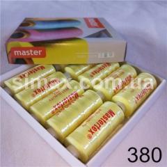 Швейная нитка 40s/2 (10шт x 400 ярдов), нитка 777 цветные, Код: 380