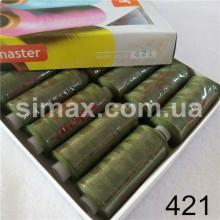 Швейная нитка 40s/2 (10шт x 400 ярдов), нитка 777 цветные, Код: 421