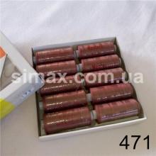 Швейная нитка 40s/2 (10шт x 400 ярдов), нитка 777 цветные, Код: 471