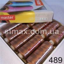 Швейная нитка 40s/2 (10шт x 400 ярдов), нитка 777 цветные, Код: 489