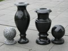 Monuments, products from granite, basalt, a gabbr