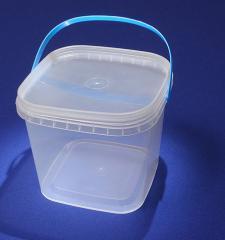 Bucket from plastic round