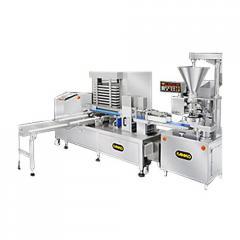 Автоматическая линия для производства штампованного печенья с начинкой SD-97W + STA-306