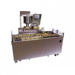 Автоматическая линия формования и выпечки кондитерских бисквитных изделий с начинкой типа мишки Барни AWC