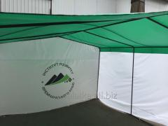 Tent of 3х3 m advertizing with a log