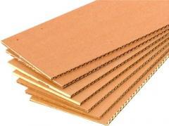 Sheet corrugated cardboard