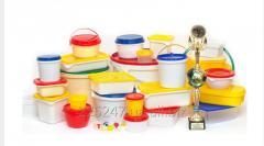 Пластиковая тара для пищевых продуктов  (ведра, судки, банки, стаканы, лотки, контейнеры, бутылки и др.)