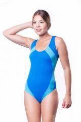 Купальник женский для плавания SHEPA 009 сине-голубой (original) (Польша)