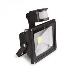 EUROELECTRIC LED COB Прожектор с датчиком движения 10W 6500K арт. LED-FL-10(sensor)