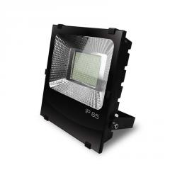 EUROELECTRIC LED SMD Прожектор черный с радиатором 150W 6500K арт. LED-FLR-SMD-150