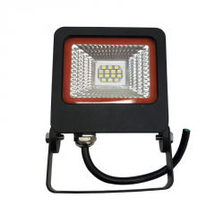 EUROELECTRIC LED SMD Прожектор черный с радиатором NEW 10W 6500K арт. LED-FL-10(black)new
