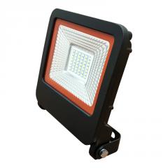 EUROELECTRIC LED SMD Прожектор черный с радиатором NEW 30W 6500K арт. LED-FL-30(black)new