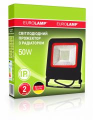 EUROELECTRIC LED SMD Прожектор черный с радиатором NEW 50W 6500K арт. LED-FL-50(black)new
