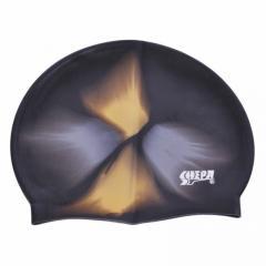 Шапочка для плавания SHEPA Multikolor черно-золотая (original) (Польша)