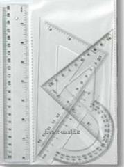 Линейка,набор  измерительных приборов 4 пр.Skiper,SK-Н102А