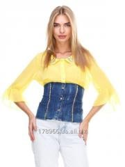 Blouse yellow-blue JUST-R
