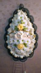 Похоронный венок косичка широкая  145Х65