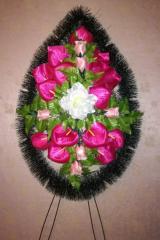 Похоронные венки классический малый №2 (пышный) 125х55 см