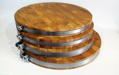Доска для пиццы с металлическим ободком