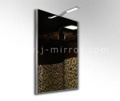 Зеркало alu 008 + светильник Consol 04