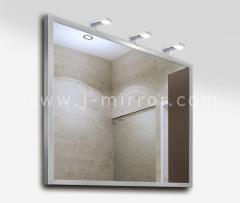 Зеркало alu 001 + светильник Consol 03