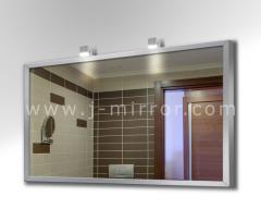 Зеркало alu 001 + светильник Consol 05