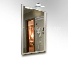 Зеркало alu 001 + светильник Consol 06