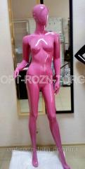 Манекен женский лакированный розовый