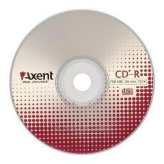 "Диск  CD-R Axent ""Cake"" 8105-A, 700MB/80min, скорость записи 52X"
