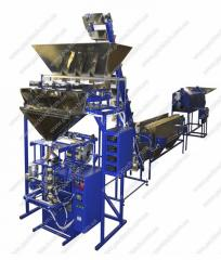 The automated line of frying and packing of