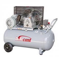Professional compressor with belt transmission