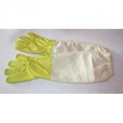 Кожаные перчатки с нарукавниками