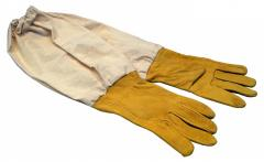 Кожаные перчатки з нарукавниками