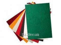 Картонная обложка Кантри А4 кожа коричневая, 100 шт