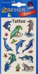 Татуировка с дельфинами