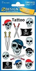Татуировка с черепами пиратов