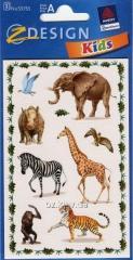 Наклейки с изображениями животных