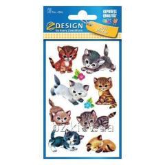 Наклейки с изображениями котиков