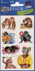Наклейки с изображениями обезьянки