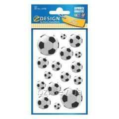 Наклейки с изображениями футбольного мяча