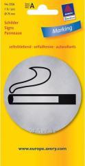 Металлизированная указательная табличка Зона для курения
