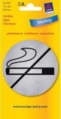 Металлизированная указательная табличка Не курить