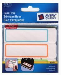 Самоклеящаяся этикетка-блокнот для любых целей, белый с рамкой, 120 шт. Размер-25*89 мм