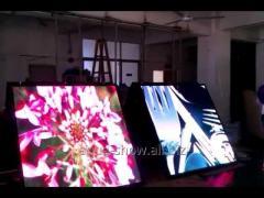 Светодиодный видеоэкран полупрозрачный