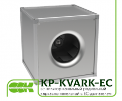 Fan channel frame and panel with EC motor KP-KVARK-EC-100-100-4-380